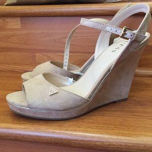Guess peep toe shoes size 11